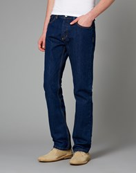 Bellfield Bowery Jeans In Straight Fit Blue