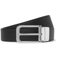 Dunhill 3Cm Black And Brown Reversible Leather Belt Black