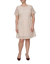 Junarose Lace A Line Dress Peach