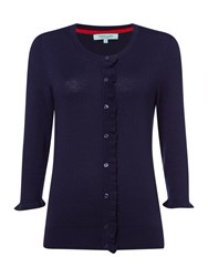 Dickins And Jones Cardigan With Frill Detail Navy