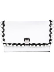 Proenza Schouler Small Embellished Leather Lunch Bag White