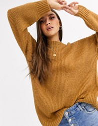 Neon Rose Ultimate Relaxed Jumper Brown