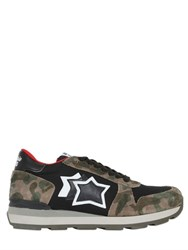 Atlantic Stars Gemma Suede And Nylon Sneakers