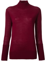 Le Ciel Bleu Ribbed Jumper Red