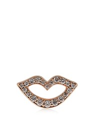 Raphaele Canot Keep Smiling Diamond And Rose Gold Earrings Rose Gold