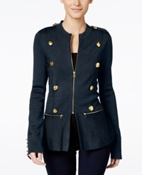 Inc International Concepts Petite Peplum Military Style Jacket Only At Macy's Deep Twili