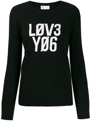 Red Valentino 'Lov3 Yo6' Jumper Black