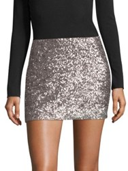 Bailey 44 Scene Stealing Sequin Mini Skirt Taupe