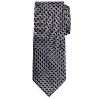 Chester By Chester Barrie Tile Design Silk Tie Navy Silver