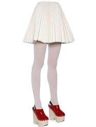 Moncler Gamme Rouge Plisse Wool And Cashmere Skirt