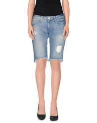 Roy Rogers Roy Roger's Choice Denim Bermudas Blue