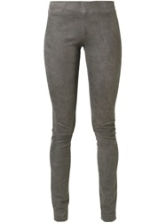 Sylvie Schimmel Leather Leggings Grey