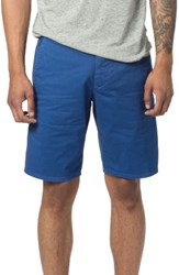 Good Man Brand Men's Modern Fit Micro Pattern Chino Shorts Monaco Blue Micro Cross Dot