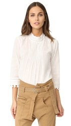 Scotch And Soda Maison Scotch Embroidered Star Blouse Off White