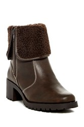 Aerosoles Boldness Faux Shearling Cuff Boot Brown
