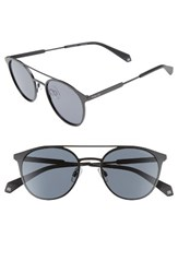 Polaroid Men's Eyewear 51Mm Polarized Sunglasses Black Grey Black Grey