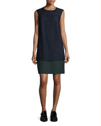 Grey Jason Wu Cap Sleeve Lace Combo Shift Dress Marine Deep Forest Marine Deep Forst