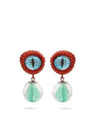 Givenchy Eye And Marble Earrings Orange