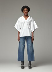 Toteme 'S Liry Top In White Size Small 100 Cotton