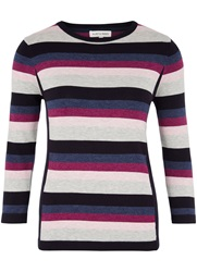 Austin Reed Stripe Side Panel Jumper Blue