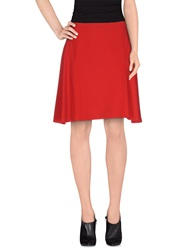 Moschino Cheap And Chic Moschino Cheapandchic Knee Length Skirts Red