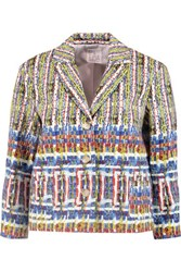 Stella Jean Printed Woven Cotton Jacket Multi