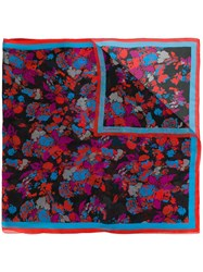Givenchy Floral Print Scarf Black