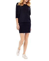 Phase Eight Becca Batwing Dress Navy Marl