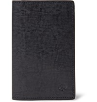Mulberry Cross Grain Leather Cardholder Midnight Blue