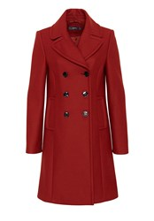 Hallhuber Wool Coat With Lapels Brown