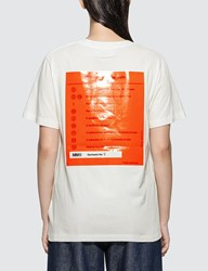 Maison Martin Margiela Mm6 Back Detail Printed T Shirt White