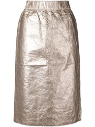 Stussy Elasticated Waist Skirt Silver