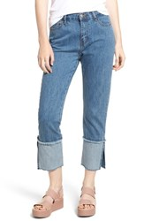 Evidnt Cuffed Raw Hem Crop Jeans Fairfax