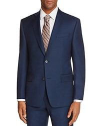 Michael Kors Textured Solid Slim Fit Suit Separate Sport Coat Blue