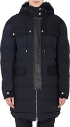 Marni Leather Trimmed Hooded Puffer Coat