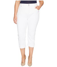 Lucky Brand Plus Size Emma Crop Jeans In Clean White Clean White Women's Jeans