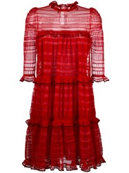 Alexander Mcqueen A Line Mini Dress Red