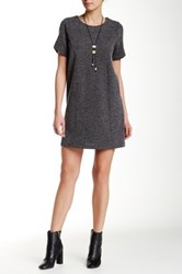 Iris Short Sleeve Shift Dress Gray