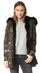 Jocelyn Army Fabric Cargo Coat Black