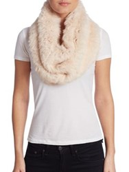 Yves Salomon Rabbit Fur Snood Petal Pink