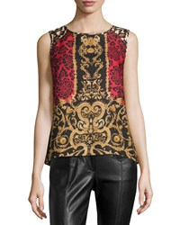 Laundry By Shelli Segal Brocade Print High Low Knit Tank Siren