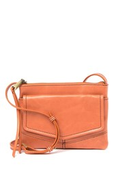 Hobo Amble Leather Crossbody Bag Persimmon