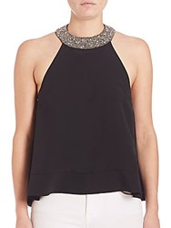 Mlv Candice Beaded Halter Black