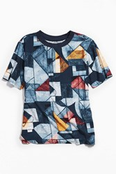 Native Youth Ulswater Woven Tee Navy