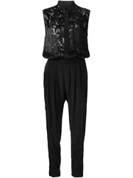 Each X Other Sheer Panel Jumpsuit Black