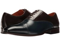 Florsheim Corbetta Cap Toe Oxford Navy Brown Smooth Men's Lace Up Casual Shoes Black
