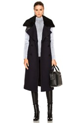 3.1 Phillip Lim Long Shearling Collar Vest In Blue