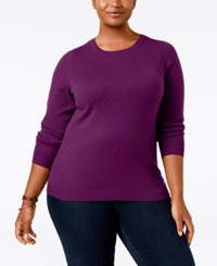 Charter Club Plus Size Cashmere Crewneck Sweater Only At Macy's Bright Ceris