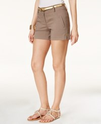 Thalia Sodi Belted Shorts Only At Macy's Truffle
