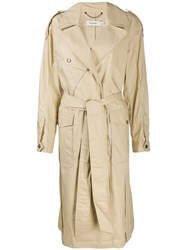 Coach Single Breasted Trench Coat Neutrals